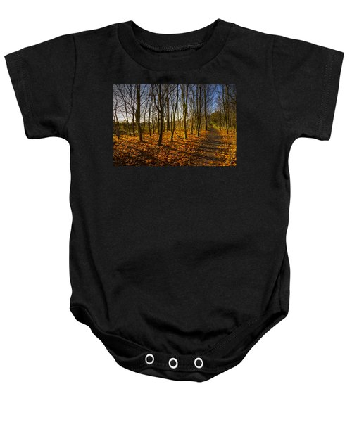 An Autumn Walk Baby Onesie