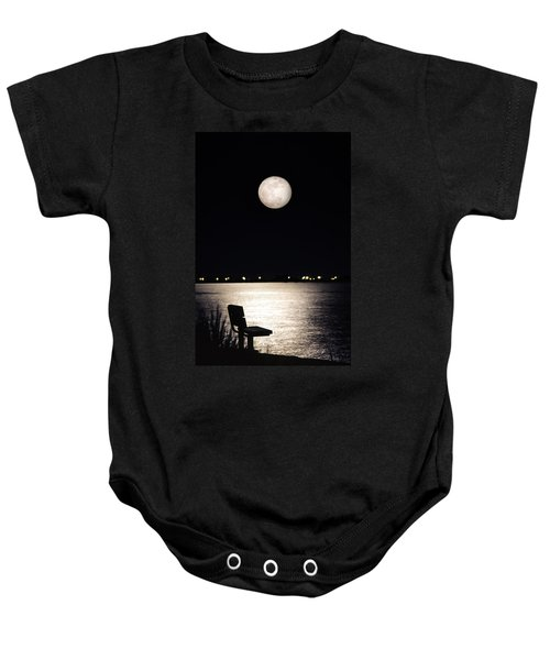 And No One Was There - To See The Full Moon Over The Bay Baby Onesie