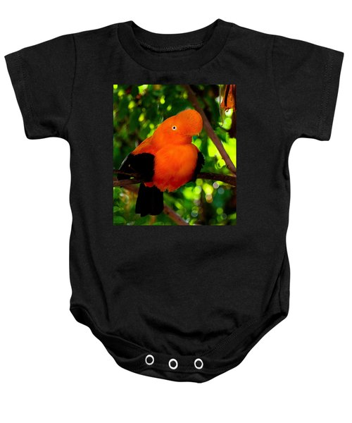 Andean Cock Of The Rock Baby Onesie