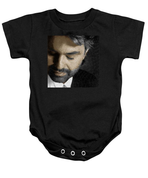 Andrea Bocelli And Square Baby Onesie