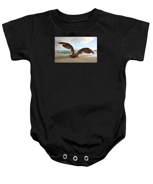 Angels- For The Lord Himself Will Descend From Heaven With A Shout Baby Onesie