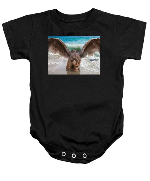 Angels- I Will Not Give Up On You Baby Onesie