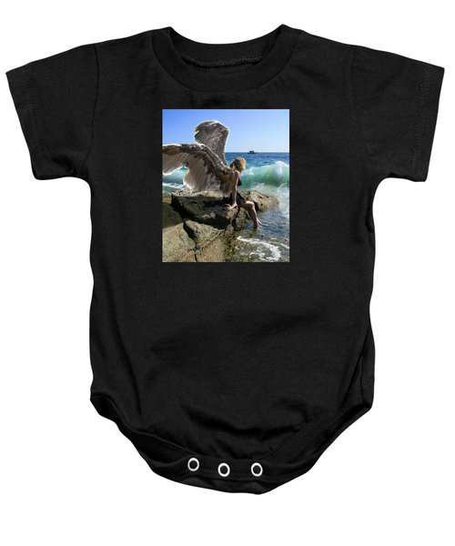Angels- I'm Watching Over You Baby Onesie
