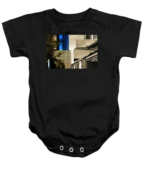 Architectural Crumpled Steel Gehry Baby Onesie