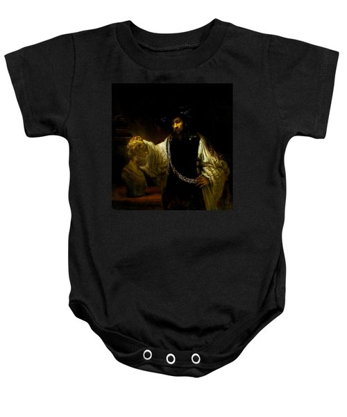 Aristotle Contemplating A Bust Of Homer Baby Onesie