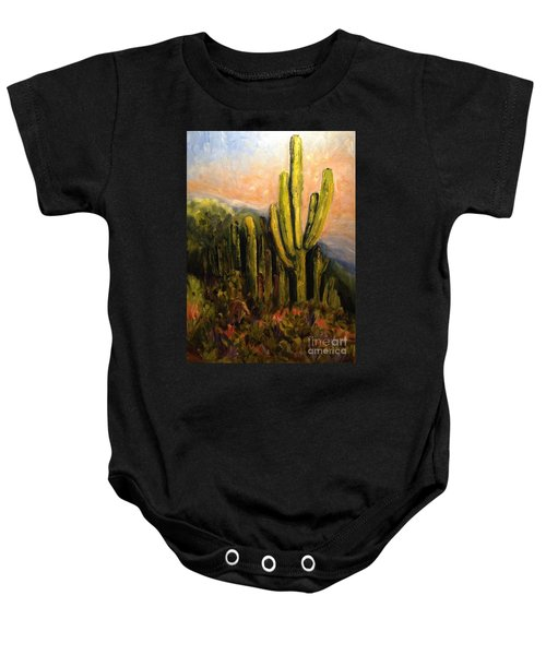 Arizona Desert Blooms Baby Onesie