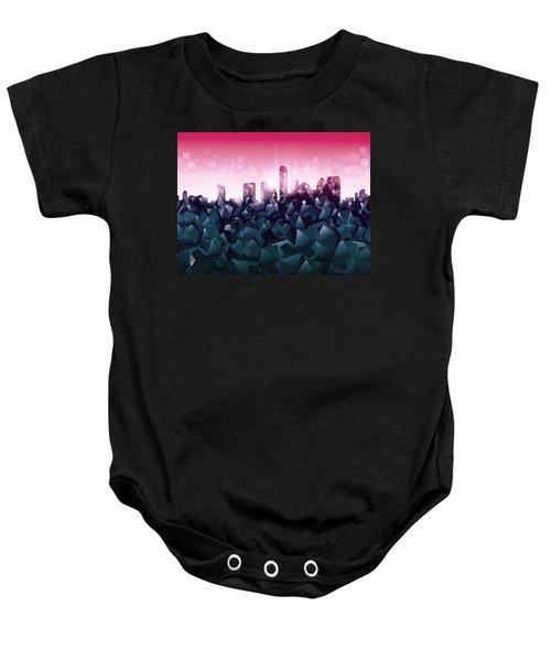 Austin Skyline Geometry 2 Baby Onesie by Bekim Art