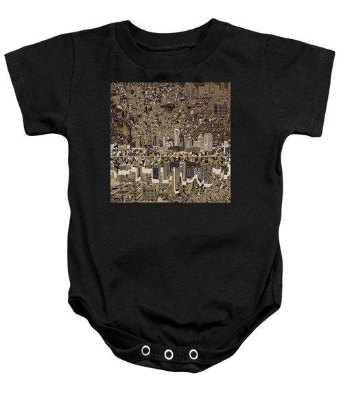 Austin Texas Skyline 5 Baby Onesie by Bekim Art