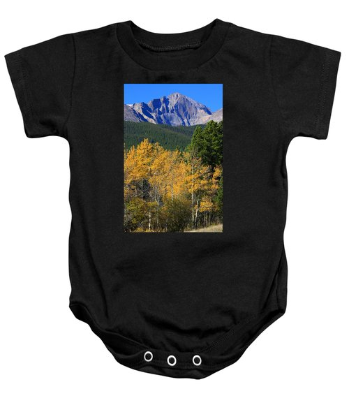 Autumn Aspens And Longs Peak Baby Onesie by James BO  Insogna
