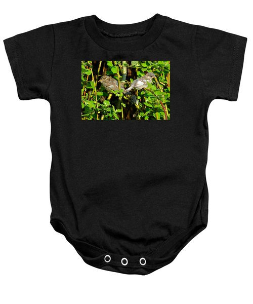 Babies Afraid To Fly Baby Onesie by Frozen in Time Fine Art Photography