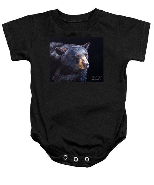 Back In Black Bear Baby Onesie