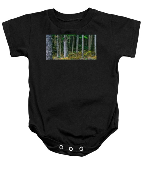 Inside View Backroad Forest Baby Onesie
