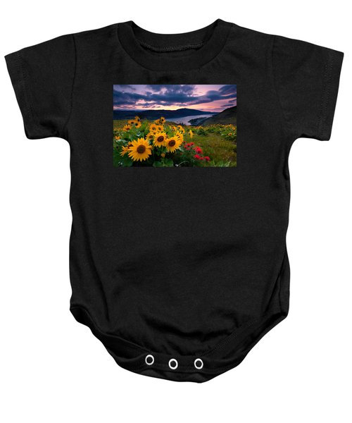 Balsam Root Sunrise Baby Onesie