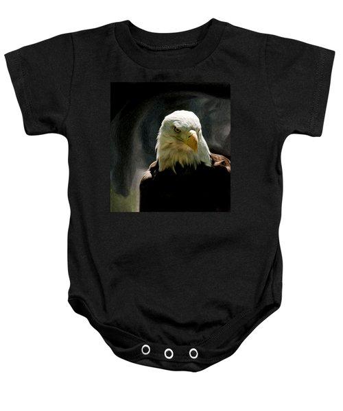 Bald Eagle Giving You That Eye Baby Onesie