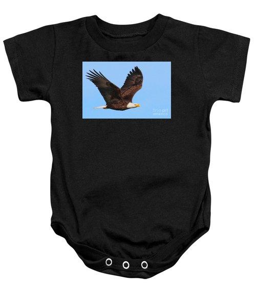 Bald Eagle In Flight Baby Onesie