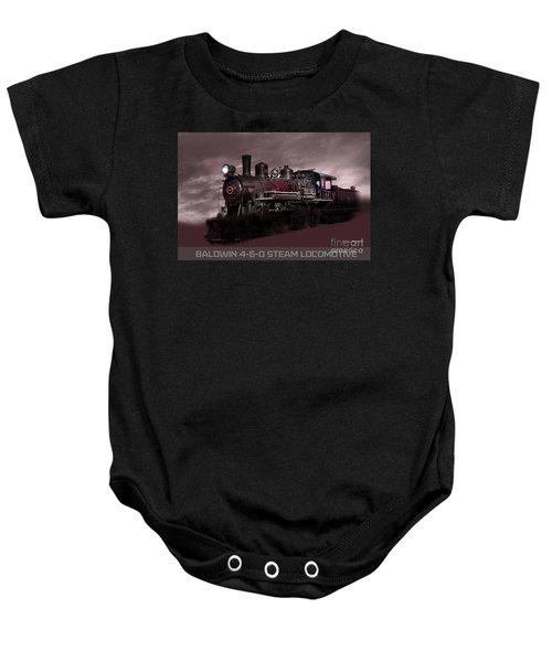 Baldwin 4-6-0 Steam Locomotive Baby Onesie