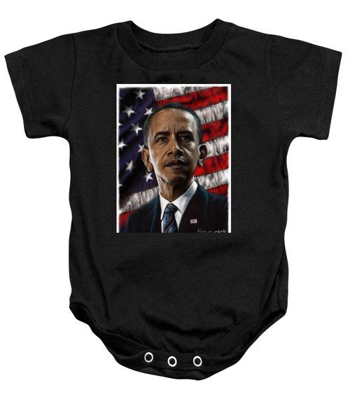 Barack Obama Baby Onesie by Andre Koekemoer