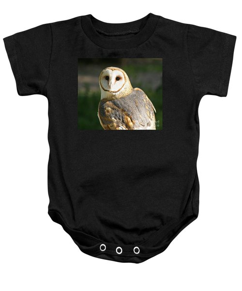 Barn Owl In Bright Sun Baby Onesie