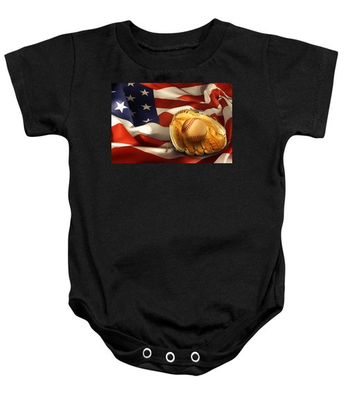 Baseball Baby Onesie by Les Cunliffe