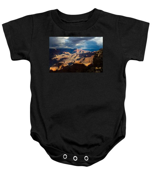 Battleship Rock In The Shadows Baby Onesie