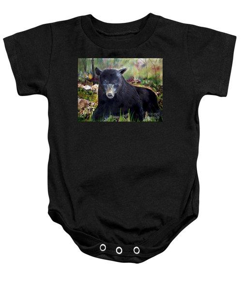 Bear Painting - Blackberry Patch - Wildlife Baby Onesie