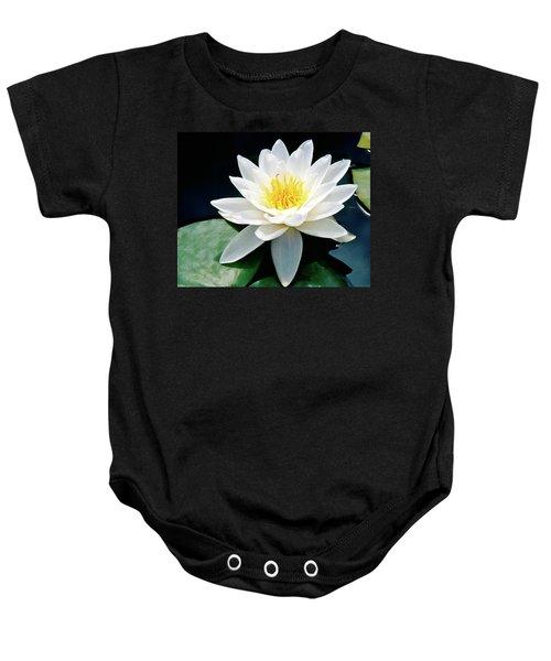 Beautiful Water Lily Capture Baby Onesie
