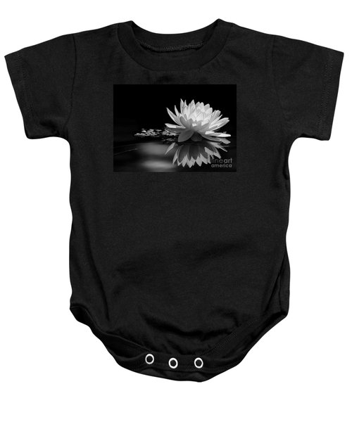 Beautiful Water Lily Reflections Baby Onesie