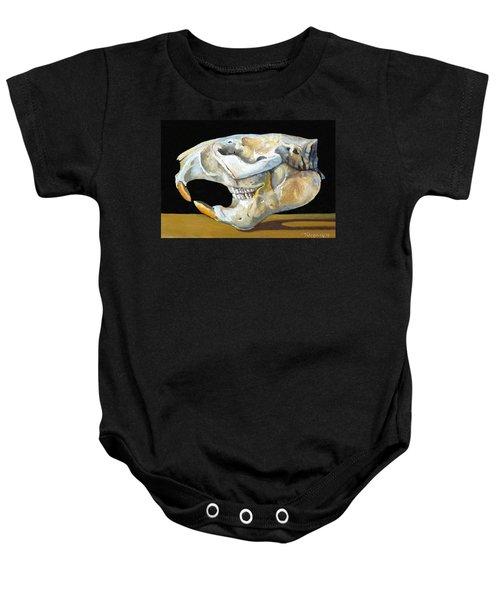 Beaver Skull 1 Baby Onesie