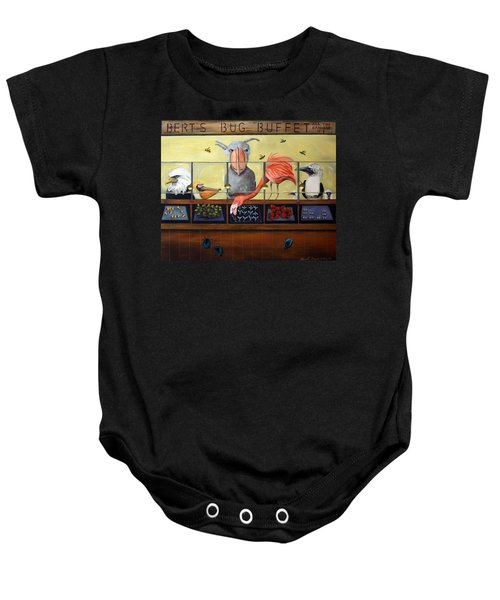 Bert's Bug Buffet Baby Onesie by Leah Saulnier The Painting Maniac