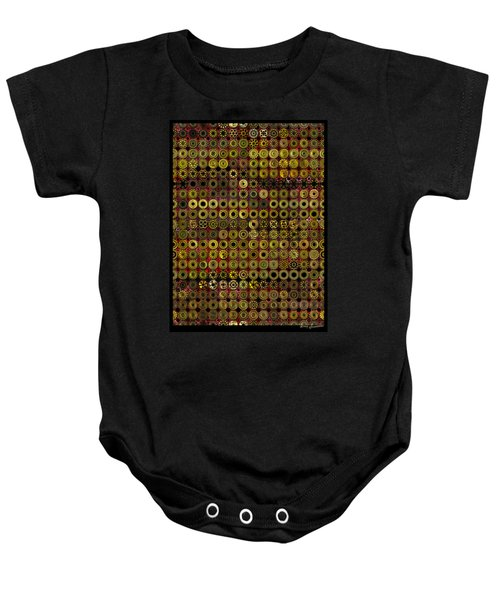Biding Time In The Gold Flocked Basement Twixt Death And Funeral Baby Onesie