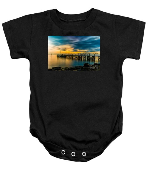 Birds On The Dock Baby Onesie