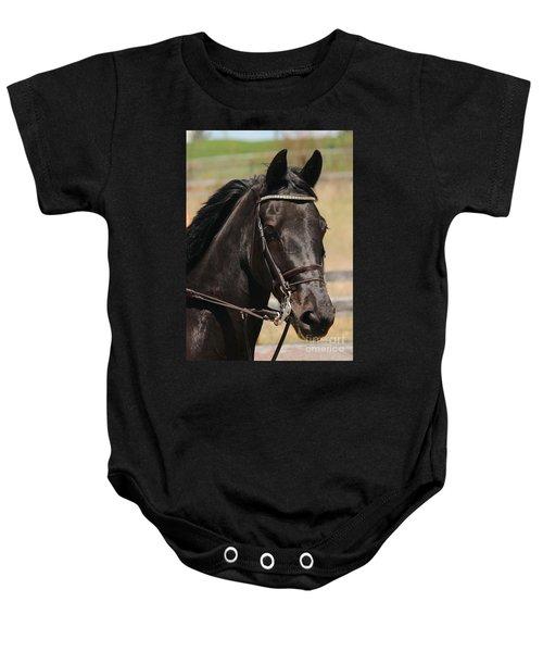 Black Mare Portrait Baby Onesie