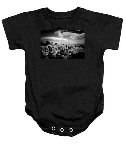 Black Rocks 3 Baby Onesie