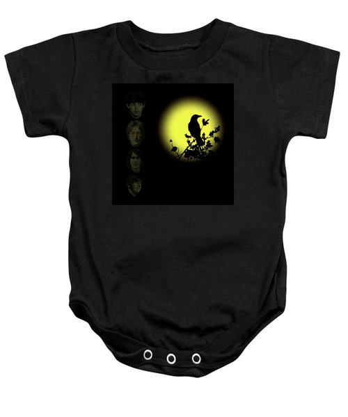 Baby Onesie featuring the photograph Blackbird Singing In The Dead Of Night by David Dehner