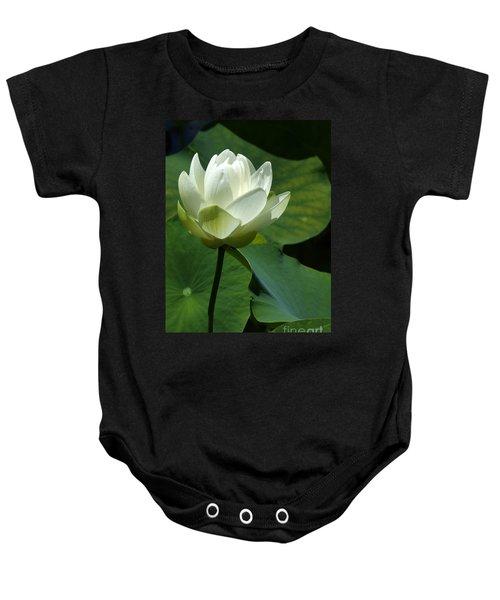 Blooming White Lotus Baby Onesie