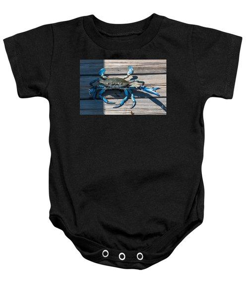 Blue Crab Pincher Baby Onesie