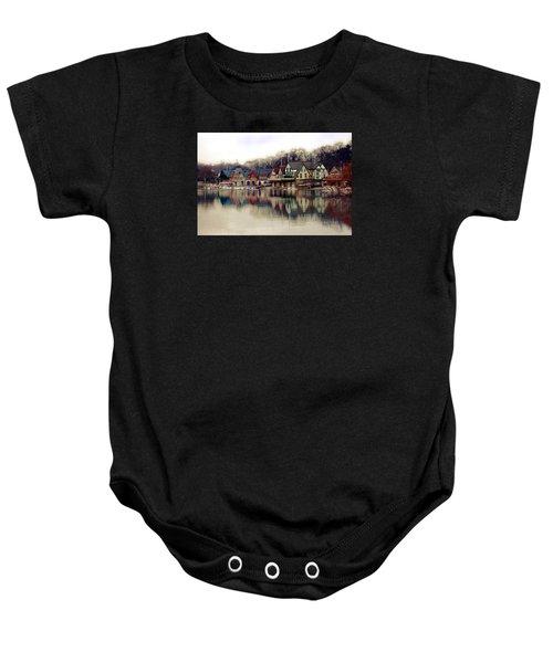 Boathouse Row Philadelphia Baby Onesie