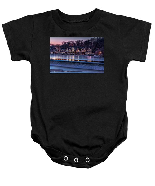 Boathouse Row Baby Onesie