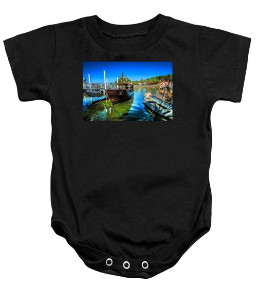 Boats At Kibbutz On Sea Galilee Baby Onesie