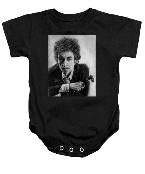Bob Dylan Baby Onesie by Andre Koekemoer