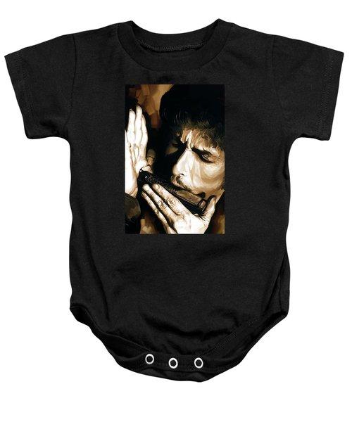Bob Dylan Artwork 2 Baby Onesie by Sheraz A
