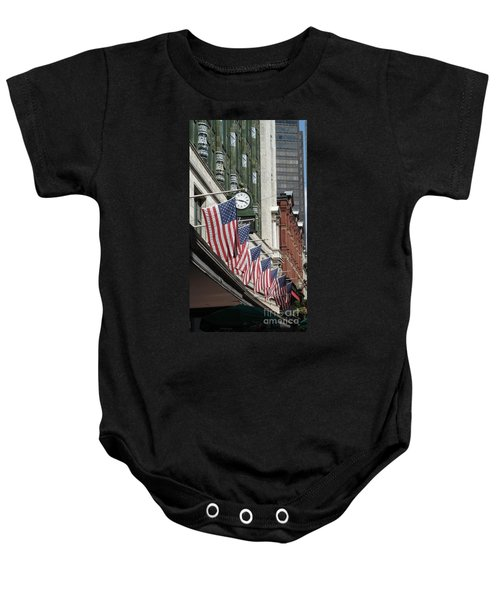 Boston 4th Of July Baby Onesie