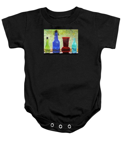 Da142 Bottles Of Time Daniel Adams Baby Onesie