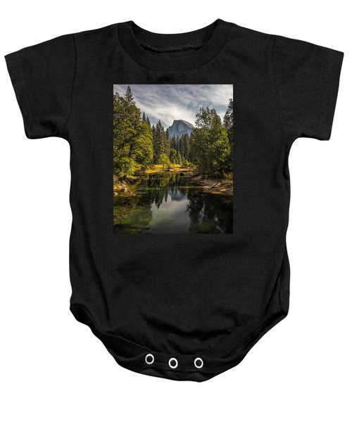 Bridge View Half Dome Baby Onesie by Peter Tellone