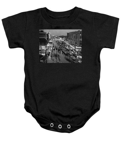 Bronx Fordham Road At Night Baby Onesie