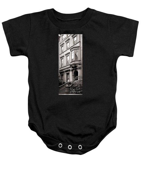 Brooklyn Heights -  N Y C - Classic Building And Bike Baby Onesie