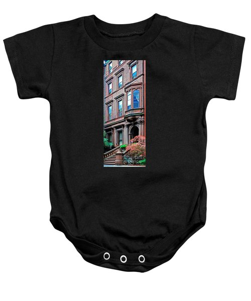 Brooklyn Heights - Nyc - Classic Building And Bike Baby Onesie