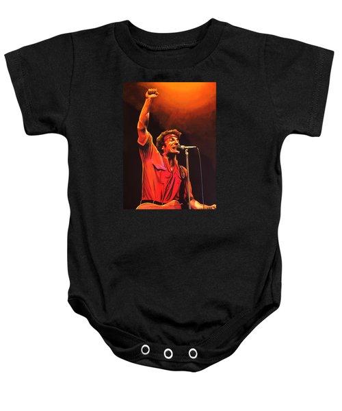 Bruce Springsteen Painting Baby Onesie by Paul Meijering