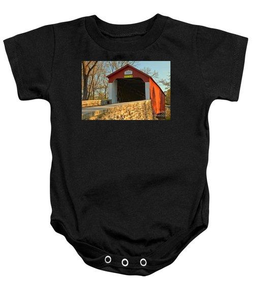 Bucks County Van Sant Covered Bridge Baby Onesie