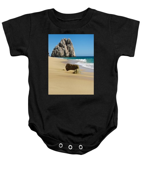 Baby Onesie featuring the photograph Cabo San Lucas Beach 2 by Shane Kelly